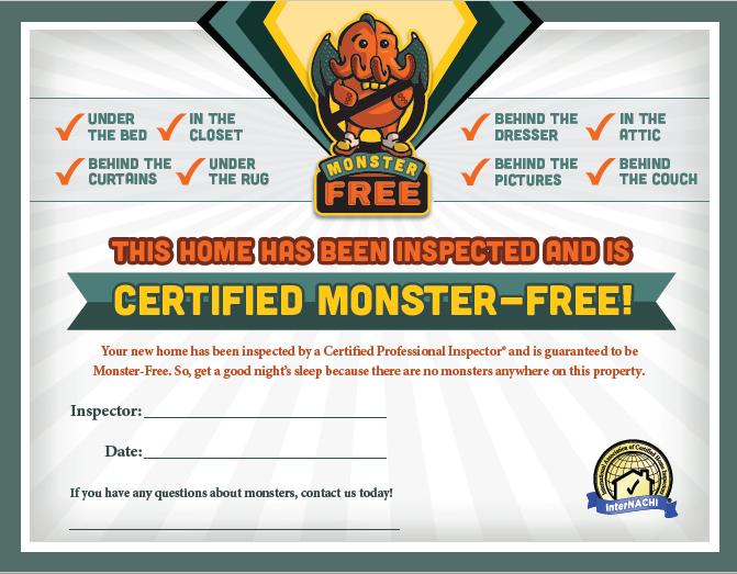 monster certificate